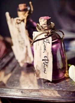 Love Potion Halloween wedding favours