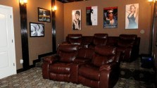 Rialto Homes media room