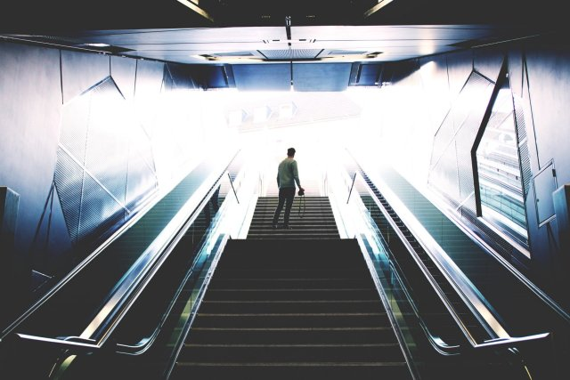 Workout on the run - take the stairs