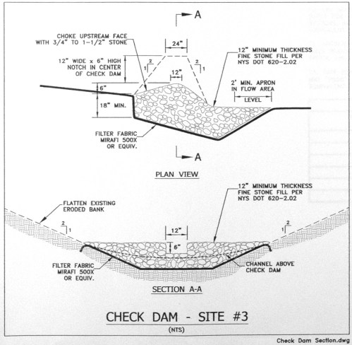 small resolution of site 3 check dam detail