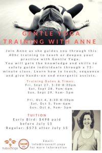 Gentle Yoga Training With Anne @ True Self Yoga