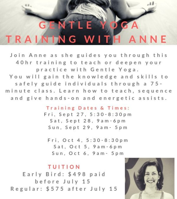 Gentle Yoga Training With Anne