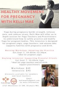 Healthy Movement For Pregnancy: Morning Workshop @ True Self Yoga