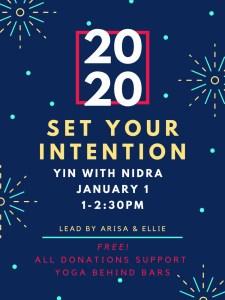 2020 Intention Setting @ True Self Yoga
