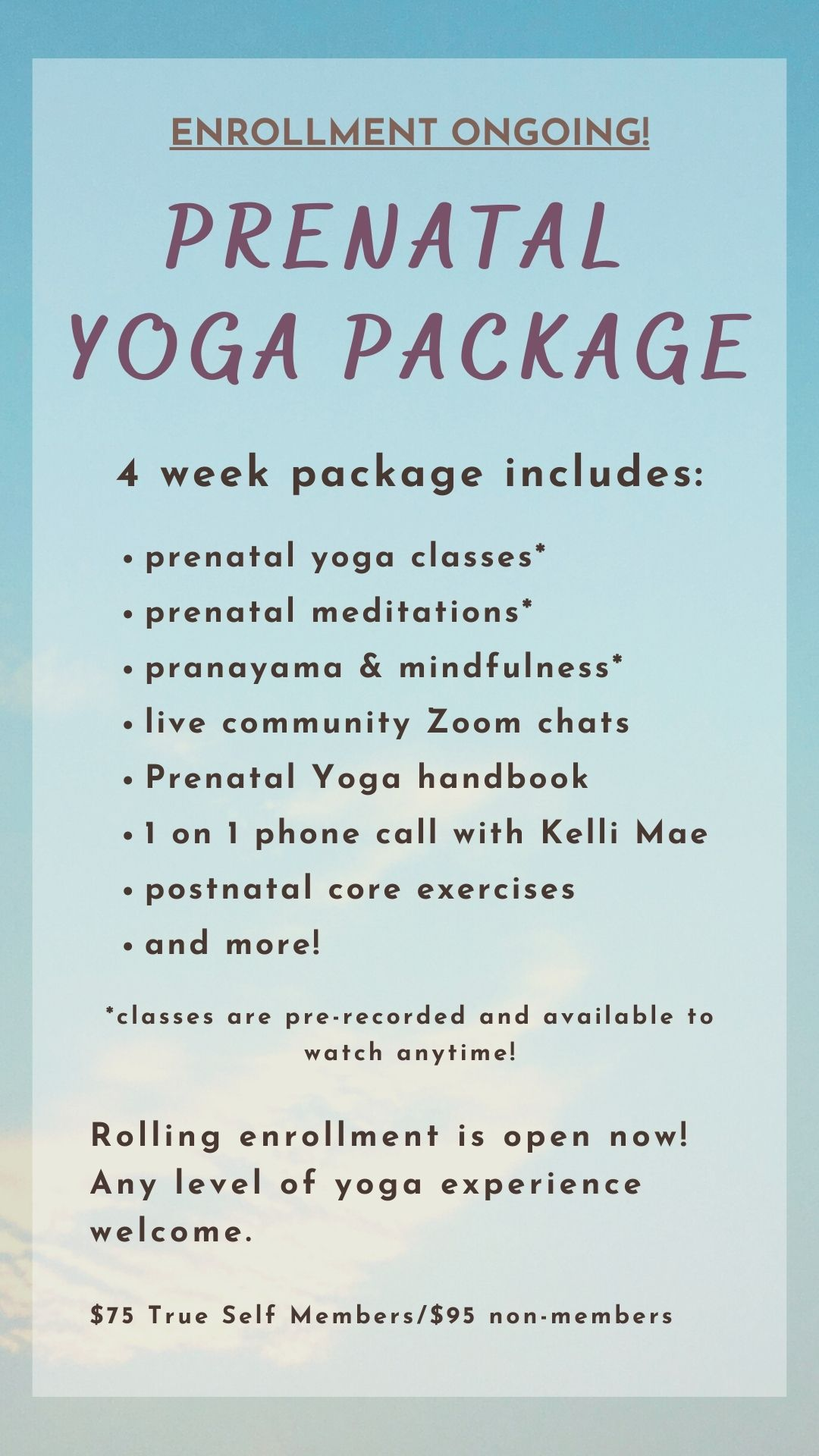 Prenatal Yoga Package