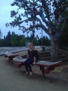 The benches were adorable.