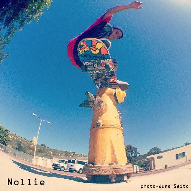 Willy Santos Nollie  Photo by June Saito