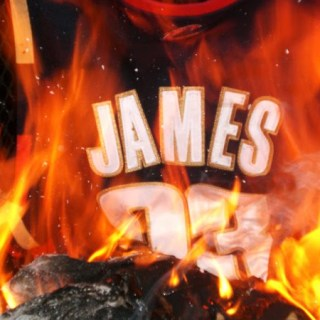 LeBron's Cavaliers Jersey is burned by angry fans.
