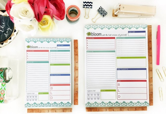 the bloom daily planner