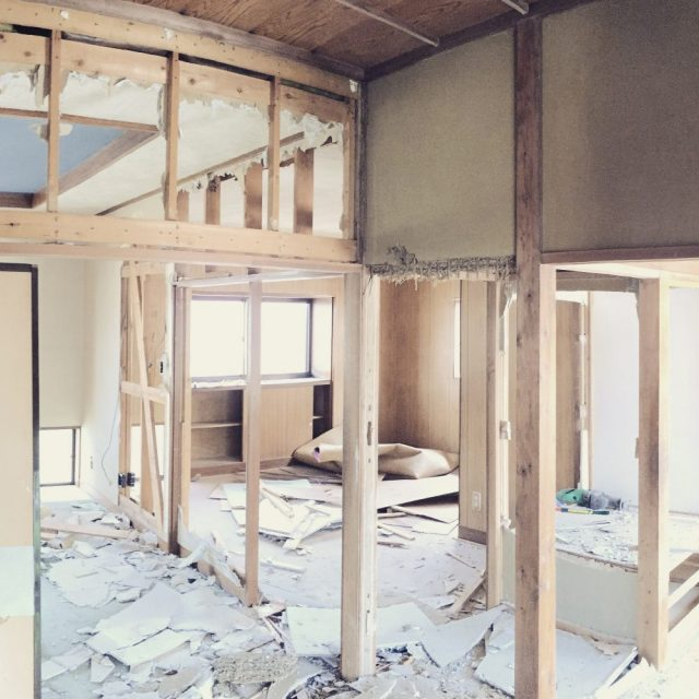 Taking down walls in This New Old House, beginnings and endings-- photo by Lauren Shannon