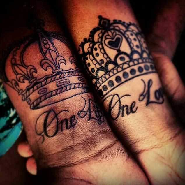 Gangster King Crown Tattoo Designs
