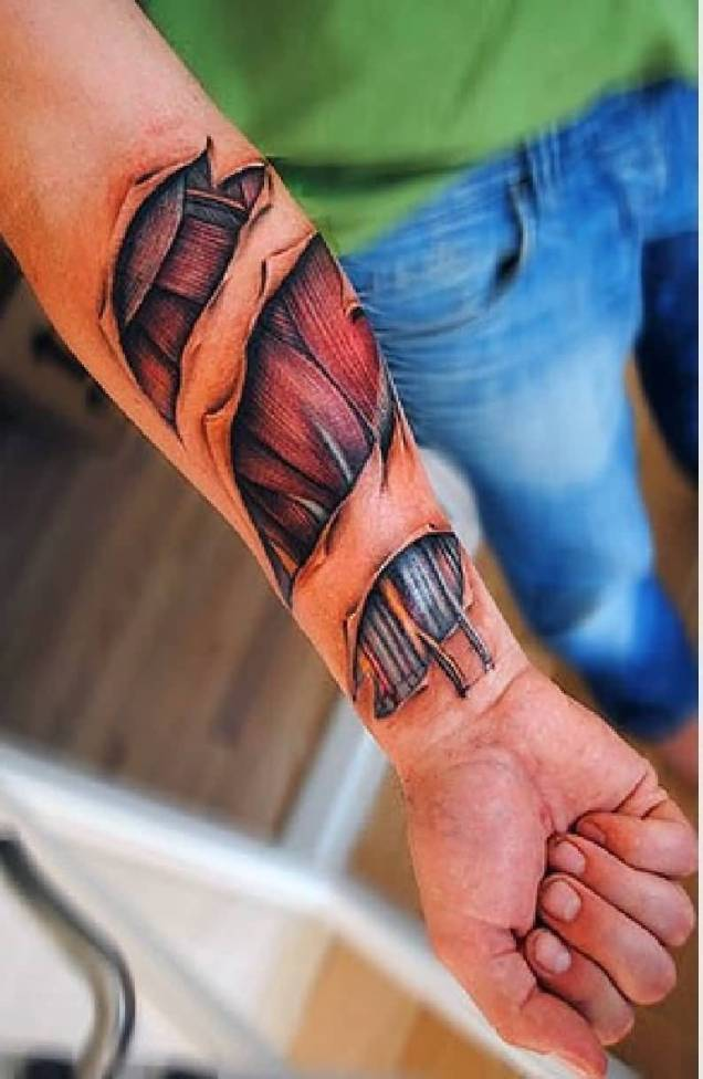 Ripped Skin Tattoos For Men