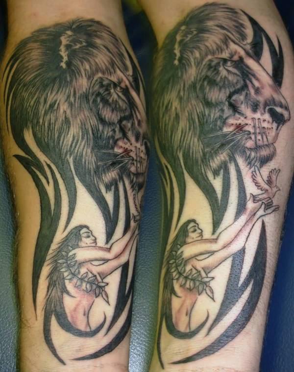 latest zodiac leo tattoo design