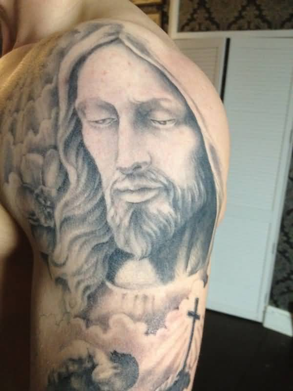 Jesus Face Tattoos Pictures