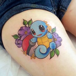Pokeman And Pokeball Tattoo