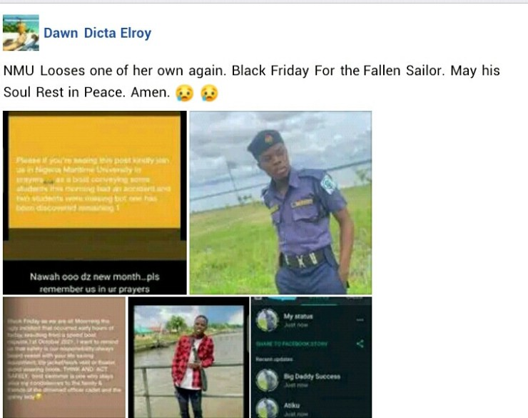 Nigeria Maritime University student, one other drown as boat capsizes in Warri River