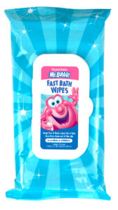 Mr. Bubble Fast Bath wipes-bag