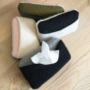 Lizzy Shaw Cashmere Tissue Holder