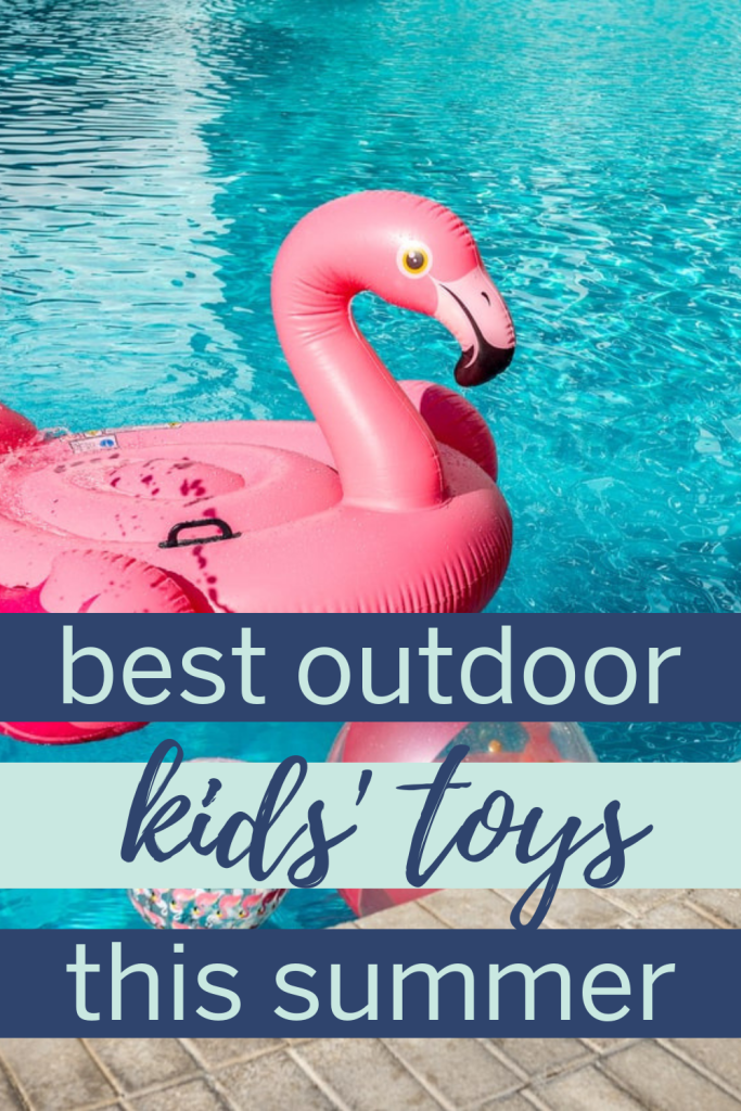 These are the best summer kids toys for playing outdoors! When school's out for summer, these ideas will keep kids entertained over the summer! #summerkidsideas #summertoys #summergames #kidsummerideas #summerideas