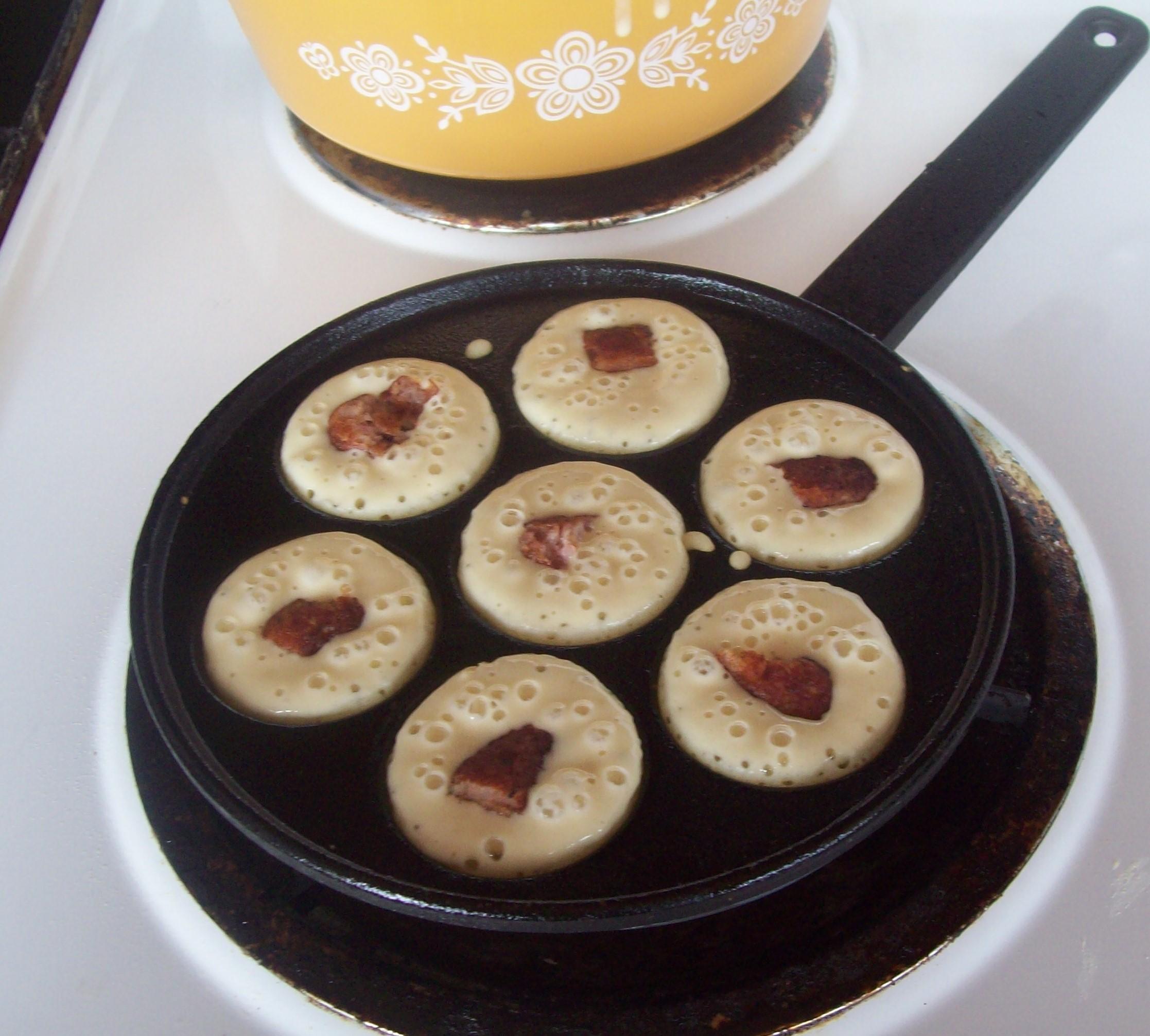 Pancake Puffs with Sausage Centers