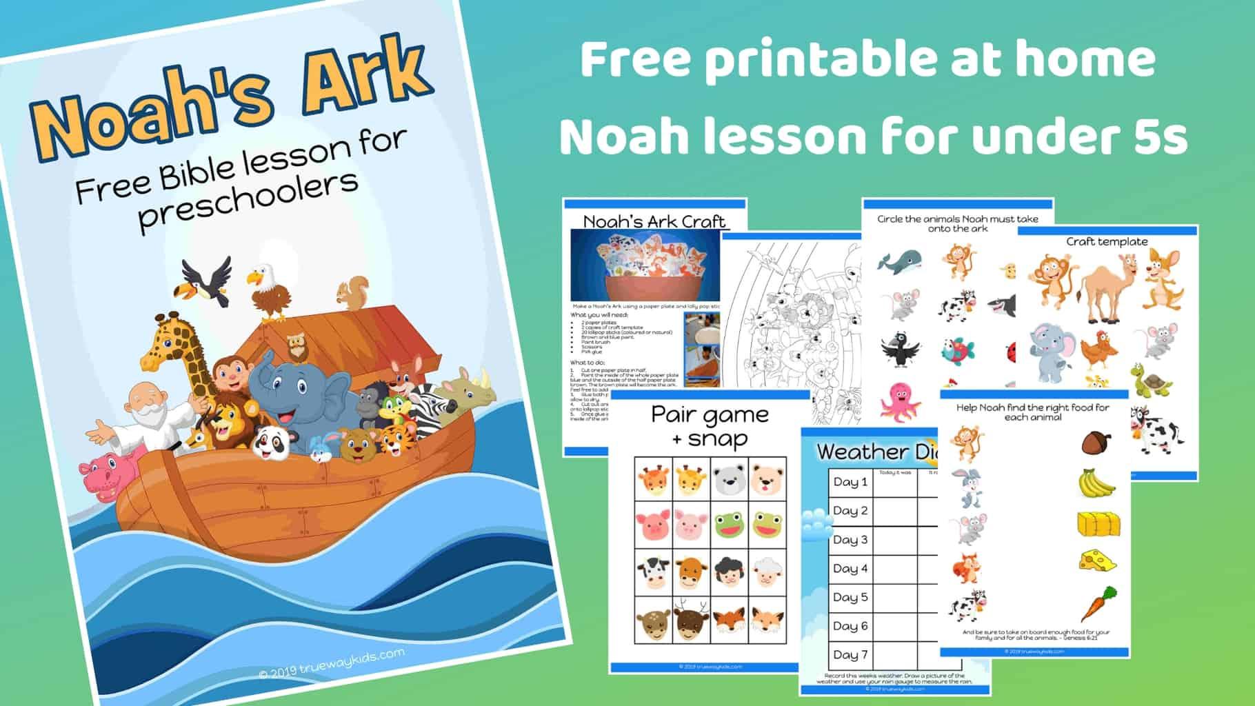 picture regarding Noah's Ark Printable named Noahs Ark - No cost printable Bible lesson for preschoolers