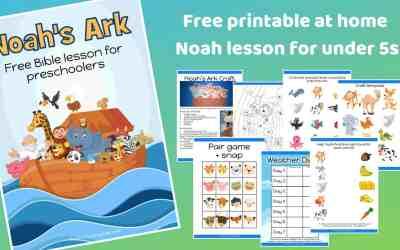 Noah's Ark – Free printable Bible lesson for preschoolers