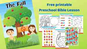 The fall - Genesis 3 - Free printable Bible lesson for under 5s