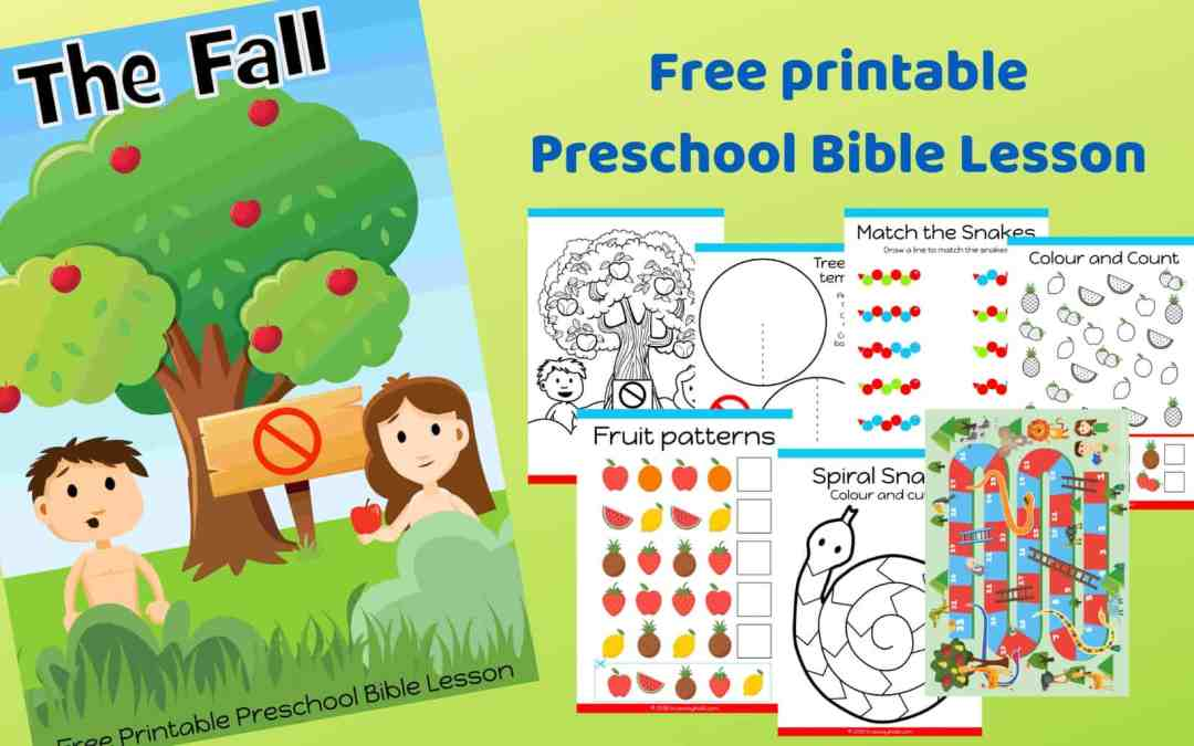 The Fall – Genesis 3 – Free printable Bible lesson for preschoolers