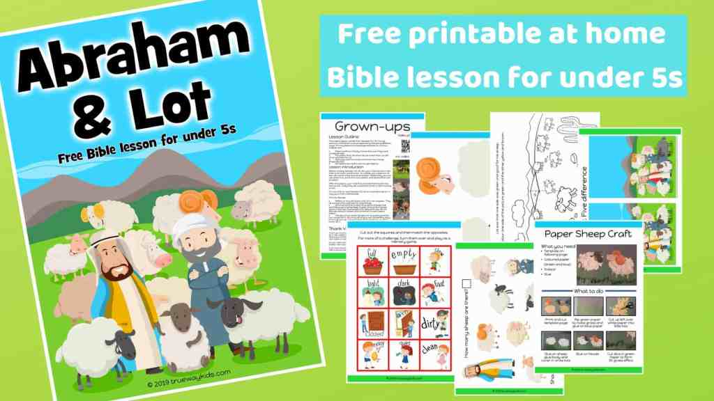Abraham and Lot preschool Bible lesson. Learn about Godly choices. Games, Crafts, Activities, songs, lesson, worksheets and more.