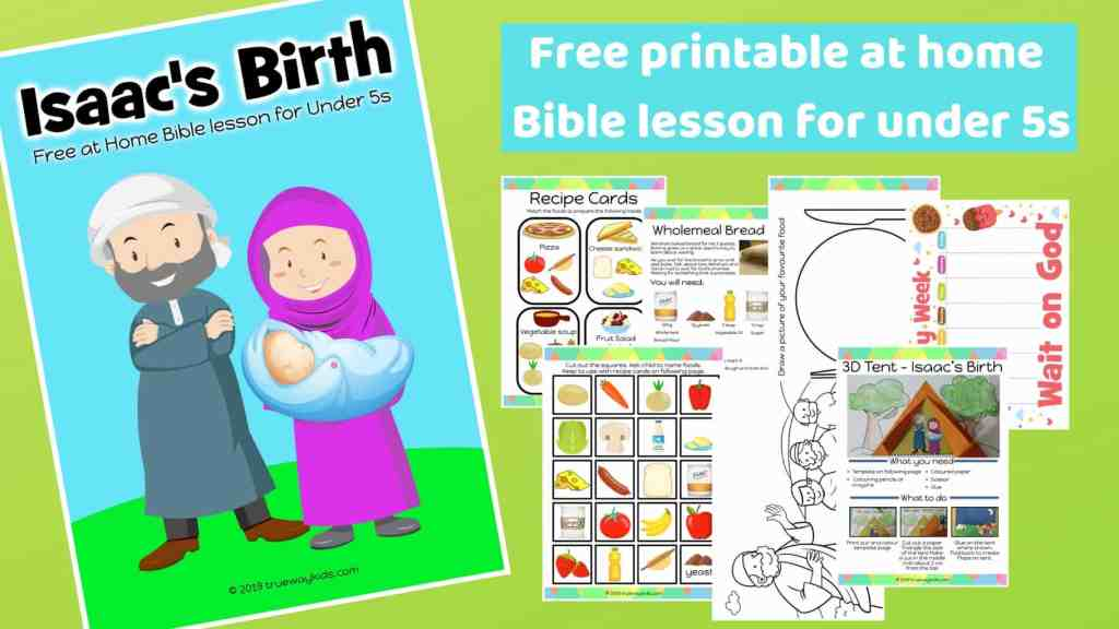 Isaac is born - Free printable at home Bible lesson for under 5s