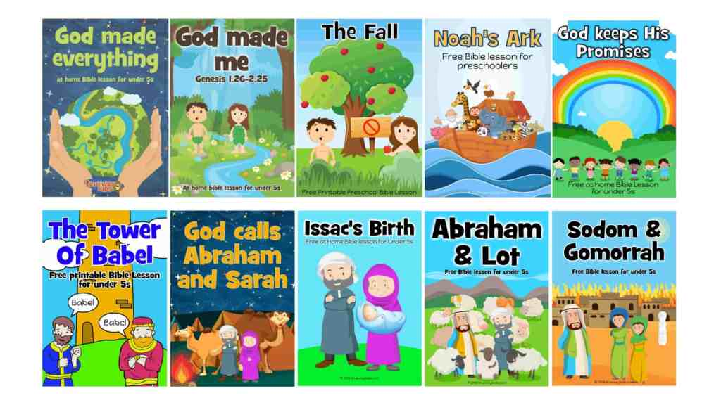 Free weekly Bible lesson for under 5s - The first 10