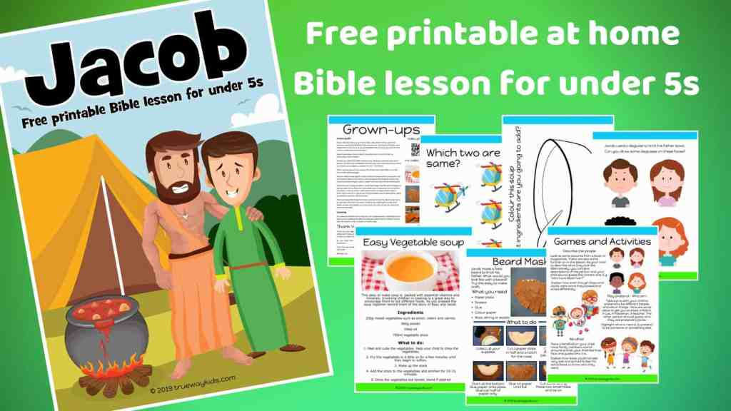 Jacob preschool Bible lesson. Learn about how God can change our life. Games, Crafts, Activities, songs, lesson, worksheets and more.