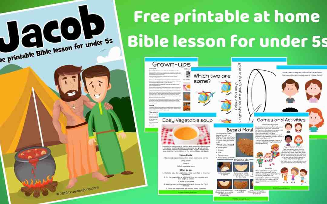 Jacob – Free Bible lesson for under 5s