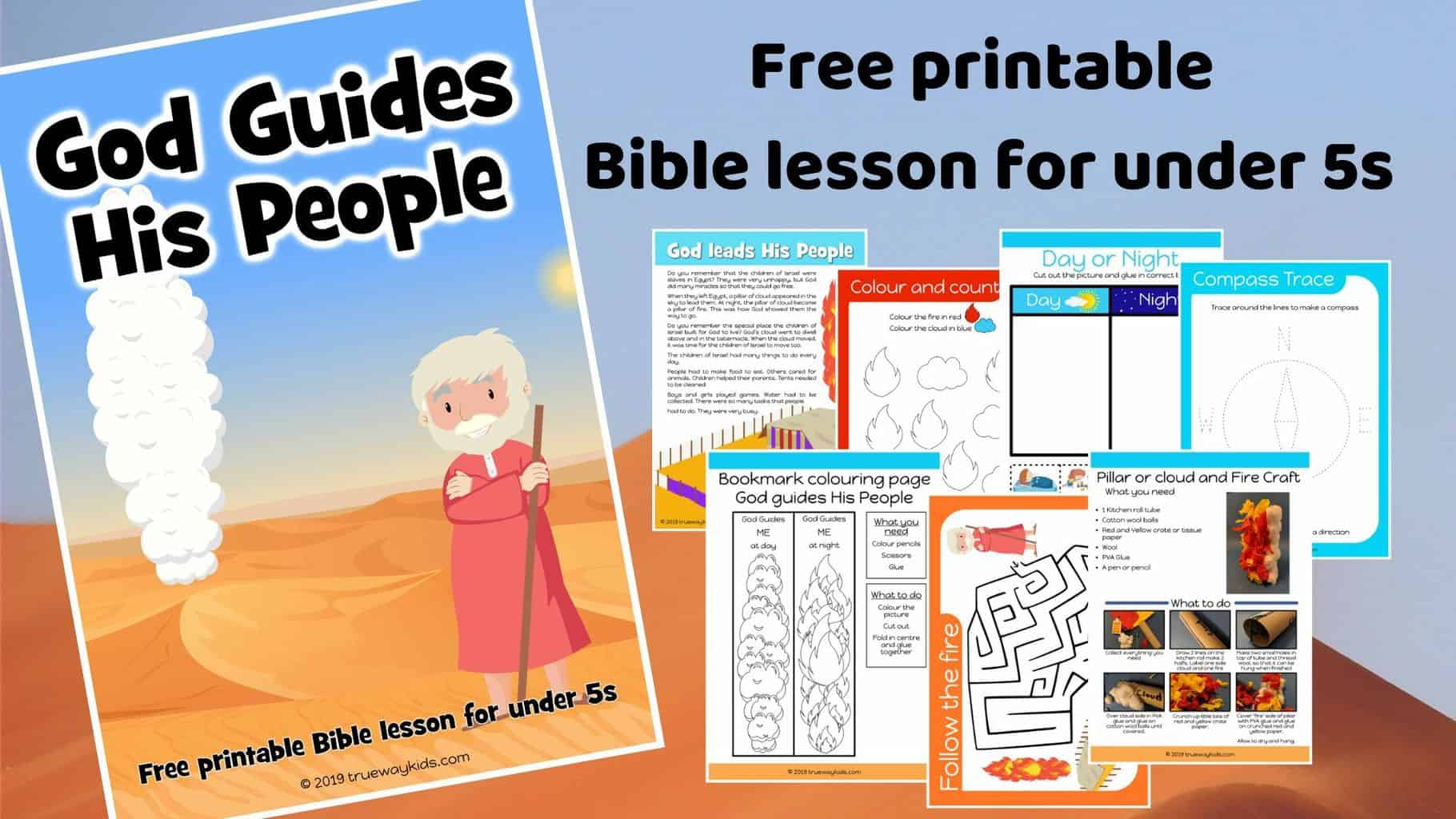 graphic about Printable Guides titled God textbooks His persons - Absolutely free printable preschool Bible