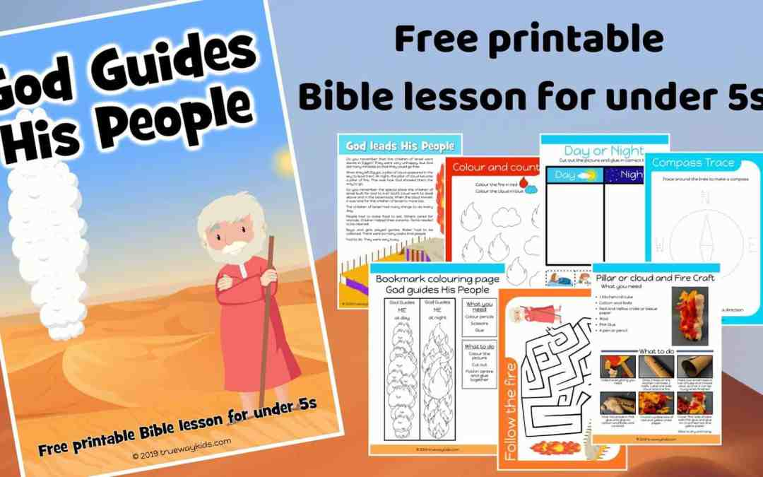 God guides His people – Free Bible lesson for under 5s