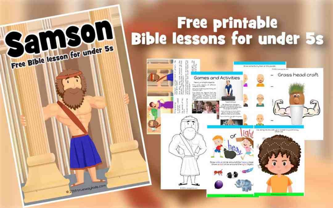 Samson - Free Bible lesson for under 5s - Trueway Kids