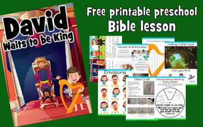 David Waits to be King – Preschool Bible lesson