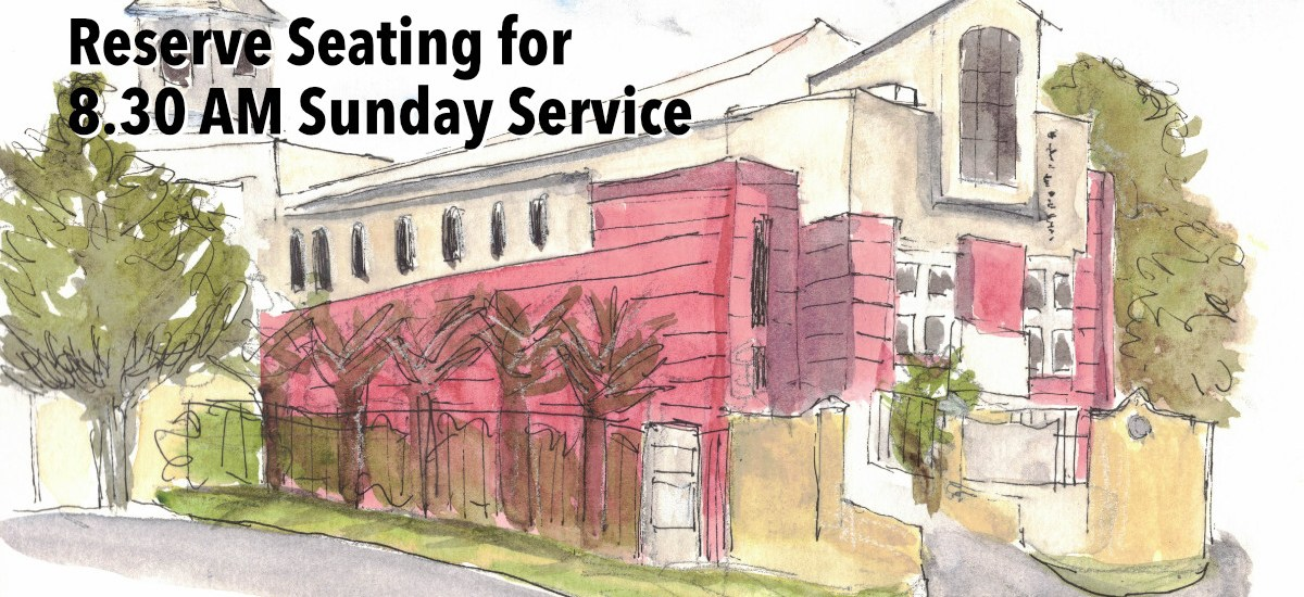 Reservation of Seating for 8.30 AM Sunday Service