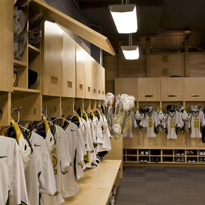 Interiors  Mens Soccer  Lacrosse Locker Rooms