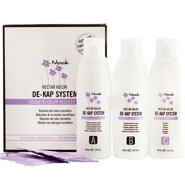 Nook Nectar Kolor De-Kap System Cosmetic Color Reducer - Профессиональный набор для удаления косметического цвета с волос