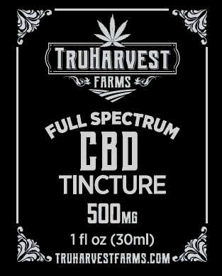 Container of hemp-based tincture