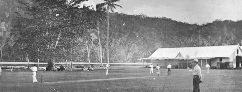Truii data visualisation, analysis and management Cricket match on Kwato Island near Samarai ca. 1905 crop