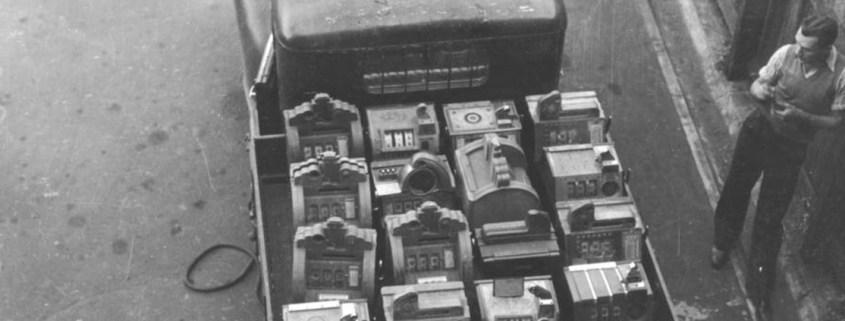 Truii data visualisation, analysis and management Poker machines loaded on a truck Brisbane 1944 crop