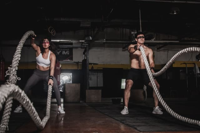 Cardio exercise with ropes; Photo by Leon Martinez from Pexels