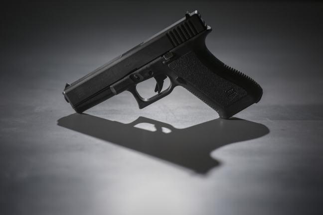 A 9mm pistol. (Jahi Chikwendiu/The Washington Post)