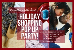 Holiday Shopping Pop Up Party