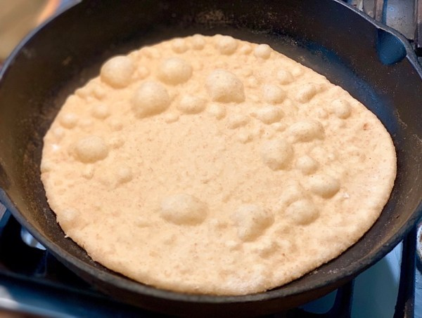 Best sourdough tortillas in iron skillet