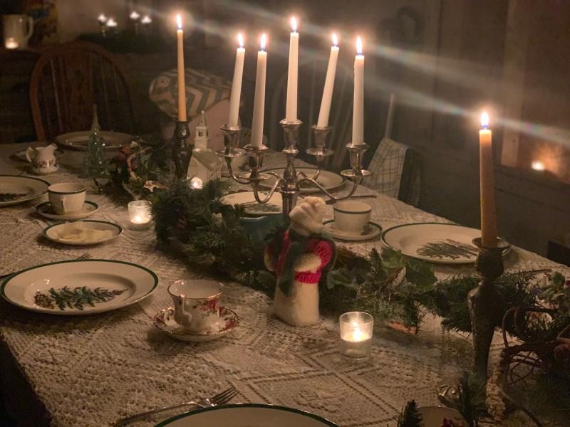 table set santa lucia day