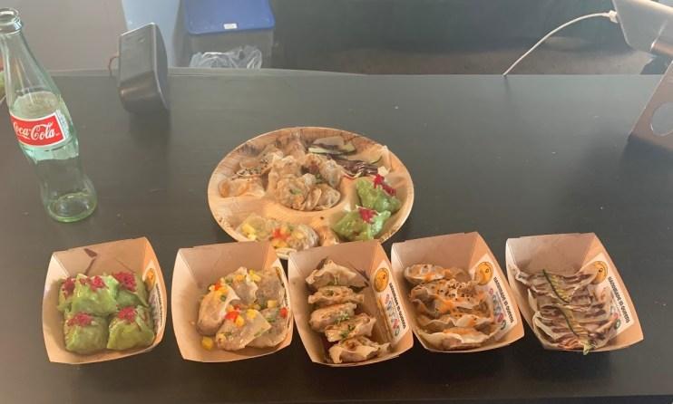 Smorgasburg trays of food