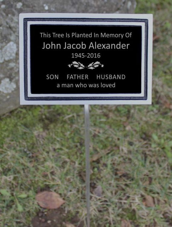 Memorial Plaque with Stake